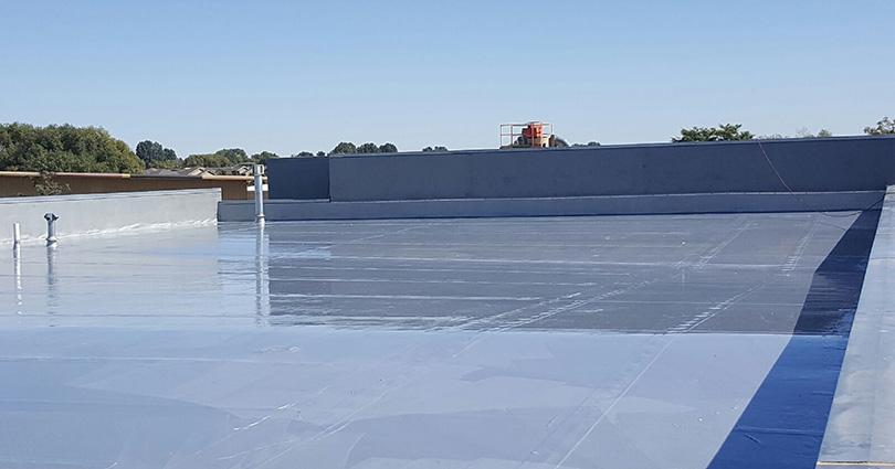 Urethane Roof Coating application